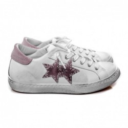 2 STAR - Leather Sneakers -...