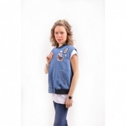 LOVE MOSCHINO - Gilet denim...