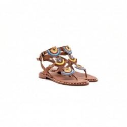 ASH - Leather sandal with...