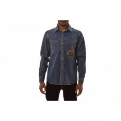 BURBERRY - Denim Shirt with...