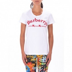 BURBERRY - T-shirt con...