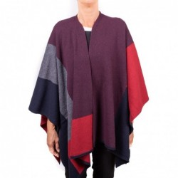 GALLO - Big check Wool Cape...