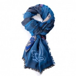 ETRO - Mixed silk scarf - Blue
