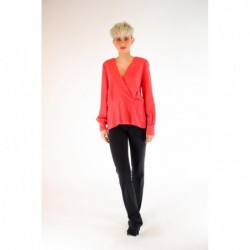 PINKO - COLTO in silk crepe...