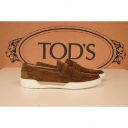 TOD'S - Suede Loafers with...