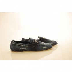 TOD'S - Denim Loafers - Denim
